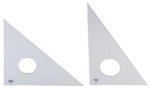 """Clear Professional Acrylic Triangle- 6"""" 30°/60°"""